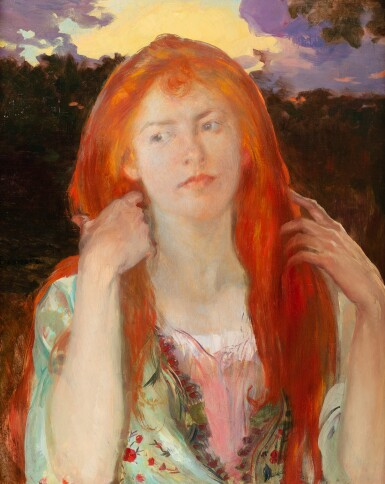 View 1. Thumbnail of Lot 222. Portrait of a red-haired woman, Ophelia .