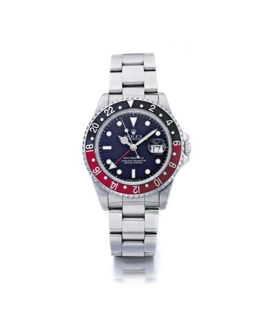 ROLEX | GMT-MASTER II REF 16710, A STAINLESS STEEL AUTOMATIC DUAL TIME WRISTWATCH WITH DATE AND BRACELET CIRCA 1993