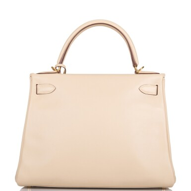 Hermès Parchemin Retourne Kelly 28cm of Swift Leather with Gold Hardware
