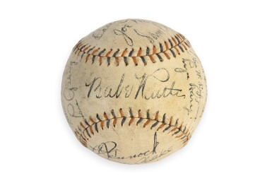 View 4. Thumbnail of Lot 146. New York Yankees | 1931 New York Yankees Autographed Baseball, signed by 10 Hall of Famers, from the Copeland Collection.