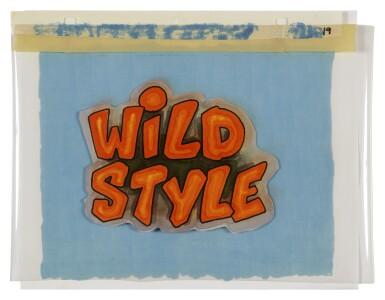 "[ZEPHYR, REVOLT, & JANE DICKSON] | ""WILD STYLE"" TITLE ANIMATION CEL, 1982."