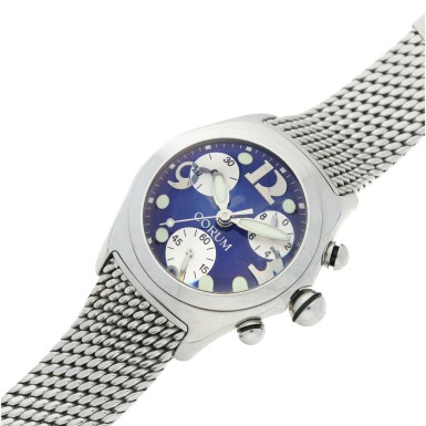 View 6. Thumbnail of Lot 222. REFERENCE 396.150.20 BUBBLE A STAINLESS STEEL CHRONOGRAPH WRISTWATCH, CIRCA 2000.