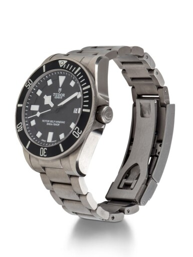 TUDOR | PELAGOS, REF 25500T TITANIUM AND STAINLESS STEEL WRISTWATCH WITH DATE AND BRACELET CIRCA 2012