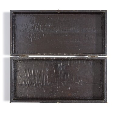 View 4. Thumbnail of Lot 1122.  A BROWN LACQUER AND GILT 'FIGURAL' RECTANGULAR BOX AND COVER,  LATE MING / QING DYNASTY.