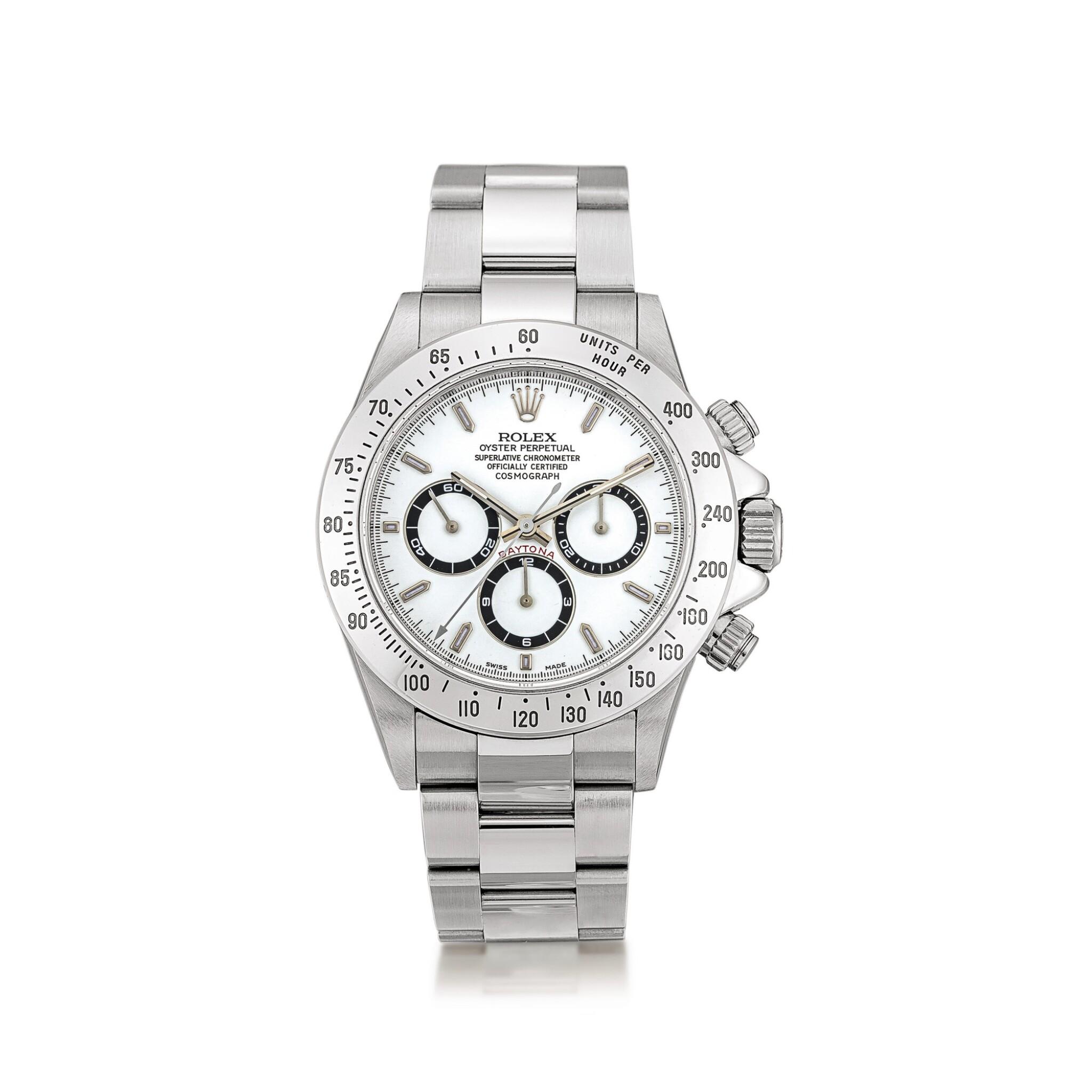 View full screen - View 1 of Lot 2147. Rolex | Cosmograph Daytona, Reference 16520, A stainless steel chronograph wristwatch with bracelet, Circa 1999 | 勞力士 | Cosmograph Daytona 型號16520    精鋼計時鏈帶腕錶,約1999年製.