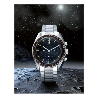View 1. Thumbnail of Lot 47. OMEGA   SPEEDMASTER REF 105.012-65 'BUZZ ALDRIN', A STAINLESS STEEL CHRONOGRAPH WRISTWATCH WITH BRACELET, MADE IN 1967.