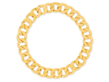 View 1. Thumbnail of Lot 2. VERDURA | GOLD 'CURB-LINK' NECKLACE-BRACELET COMBINATION.