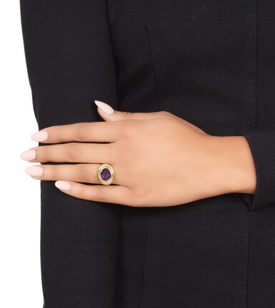 View 3. Thumbnail of Lot 307. Paloma Picasso for Tiffany & Co. | Gold and Amethyst Ring.