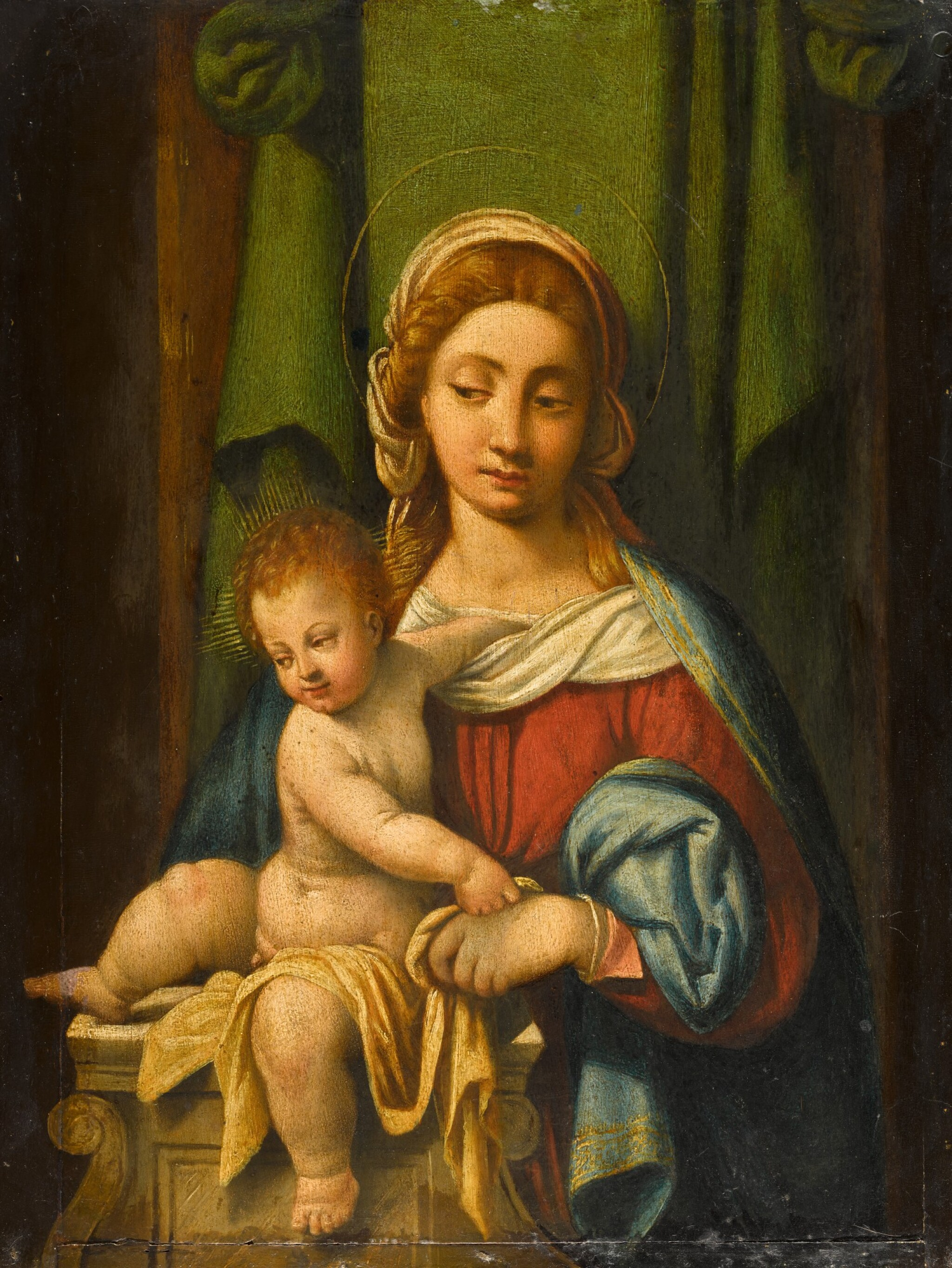 View 1 of Lot 105. Madonna and Child.