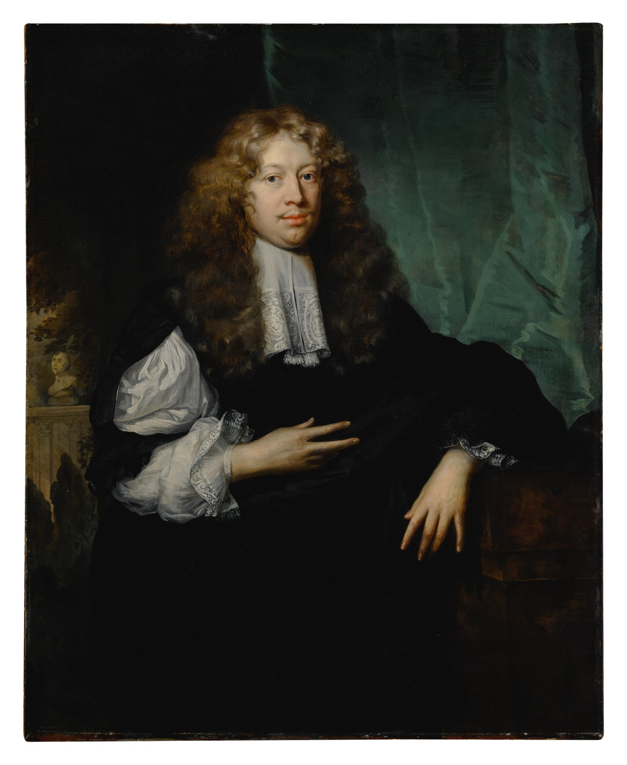 Portrait of a gentleman, three-quarter length