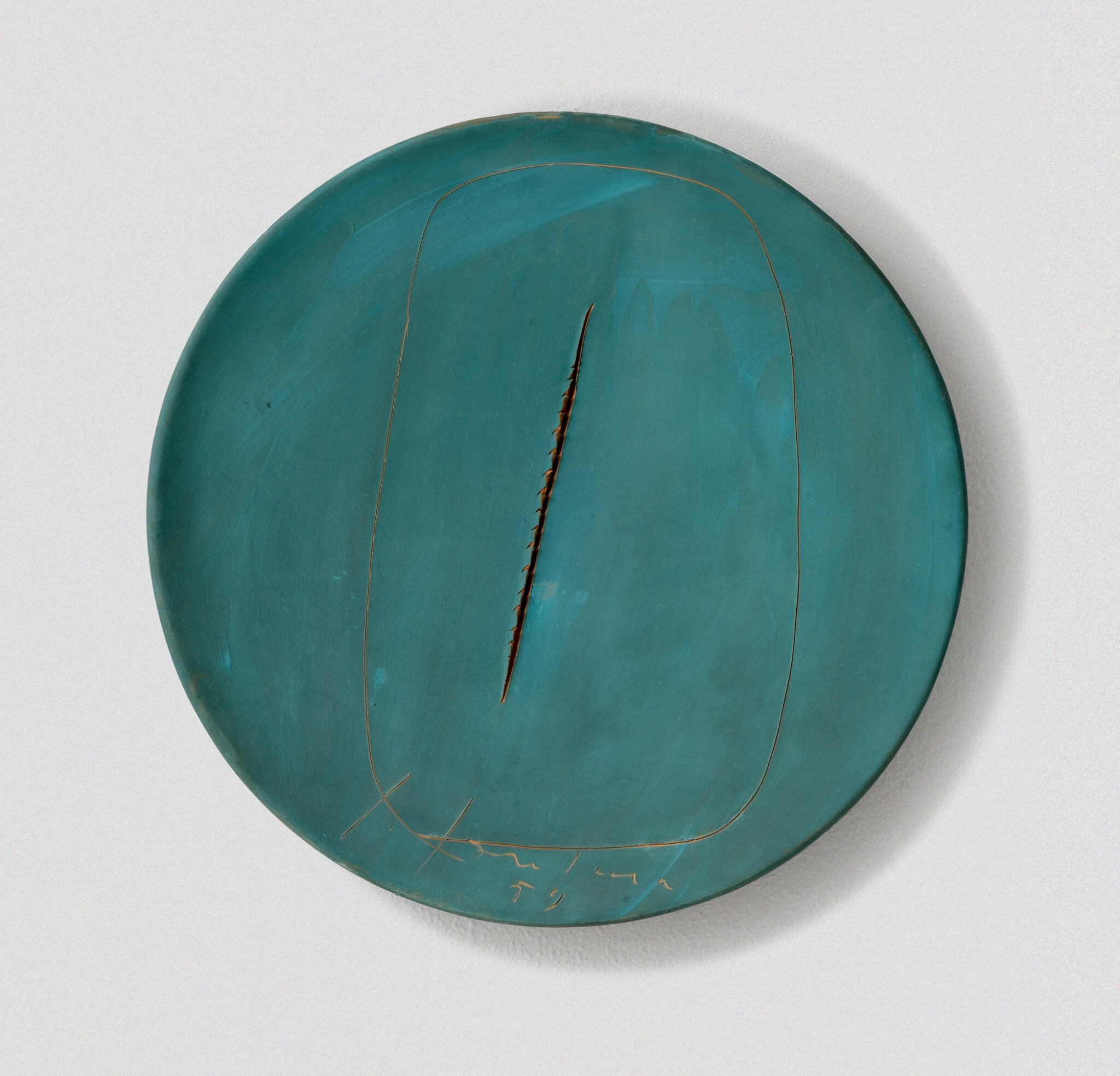 View full screen - View 1 of Lot 38. LUCIO FONTANA  |  CONCETTO SPAZIALE.