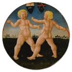 GIOVANNI DI SER GIOVANNI GUIDI, CALLED SCHEGGIA   TWO BOYS AT PLAY, A DESCO DA PARTO