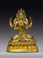 A COPPER ALLOY FIGURE OF PRAJNAPARAMITA,  NEPAL, 17TH CENTURY