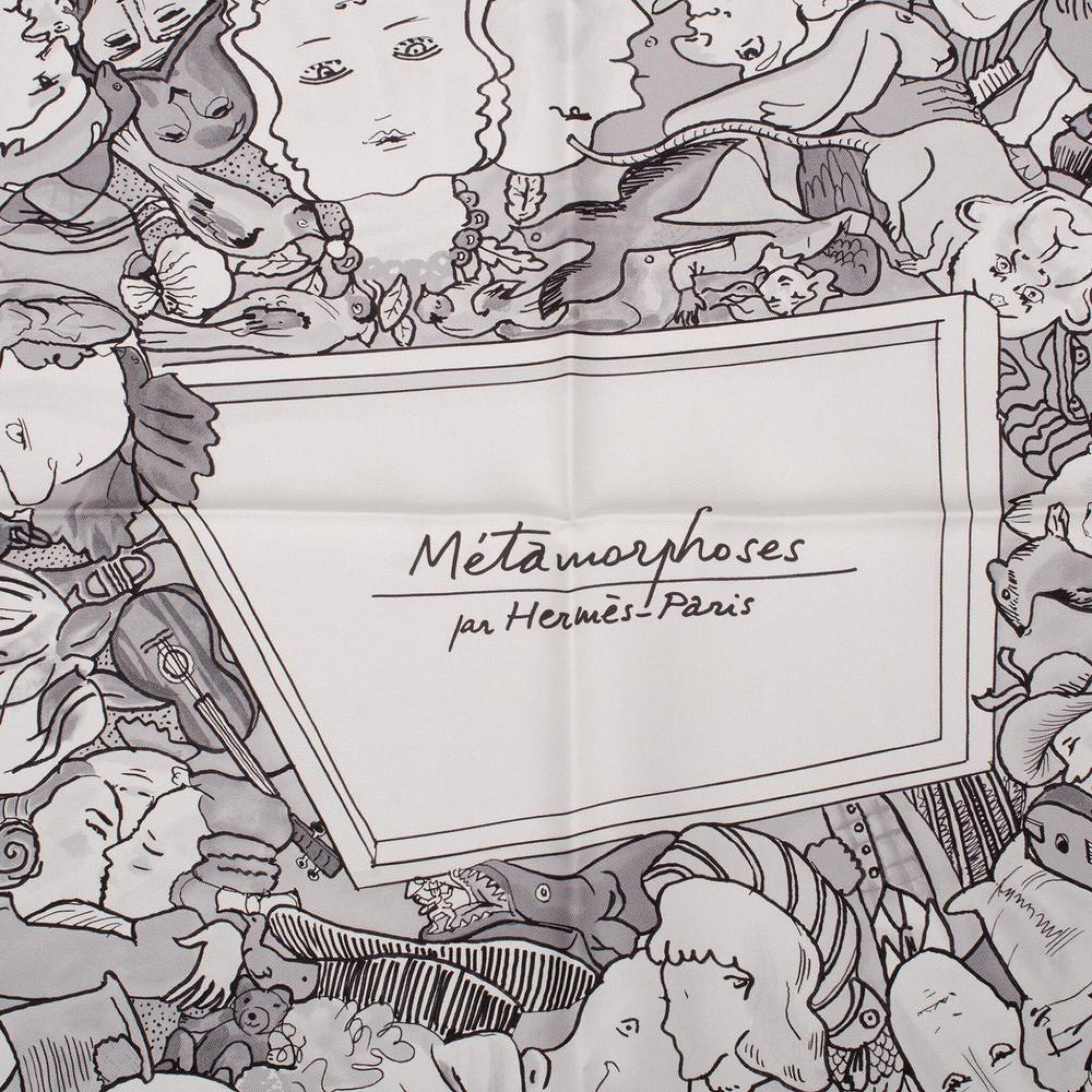 "View full screen - View 1 of Lot 86. Hermès ""Metamorphoses Par Hermès-Paris"" Silk Twill Scarf 90cm."