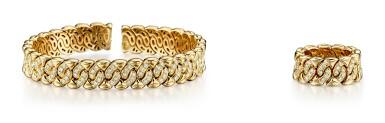 GOLD AND DIAMOND DEMI-PARURE, BULGARI | K金 配 鑽石 手鐲及戒指套裝, 寶格麗 ( Bulgari )