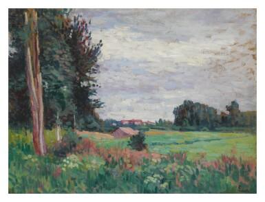 View 1. Thumbnail of Lot 8. MAXIMILIEN LUCE | VUE DE MÉRÉVILLE.
