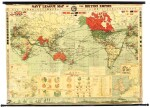 Wall map   Navy League Map of the British Empire, [1930s]