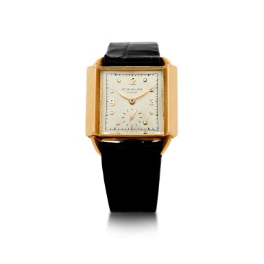 View 1. Thumbnail of Lot 141. REFERENCE 2425 'SKATER' A PINK GOLD SQUARE WRISTWATCH, MADE IN 1947.