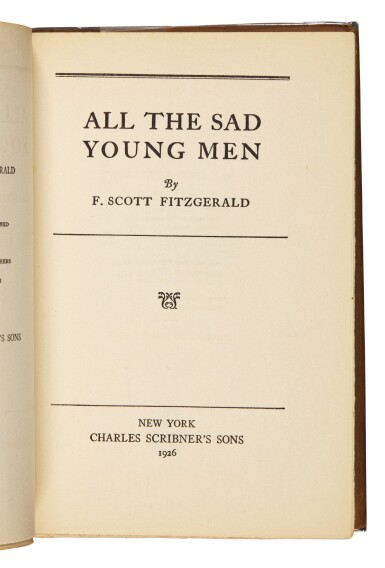 View 2. Thumbnail of Lot 90. Fitzgerald, All the Sad Young Men, 1926.