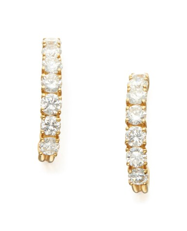 PAIR OF DIAMOND EARRINGS, TIFFANY & CO.