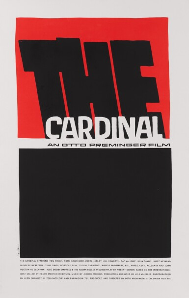 THE CARDINAL (1963) SILKSCREEN, US