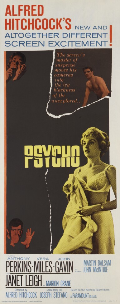 Psycho (1960) poster, US