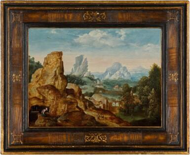View 2. Thumbnail of Lot 6. Landscape with Saint Jerome | 《聖杰羅姆與風景》.