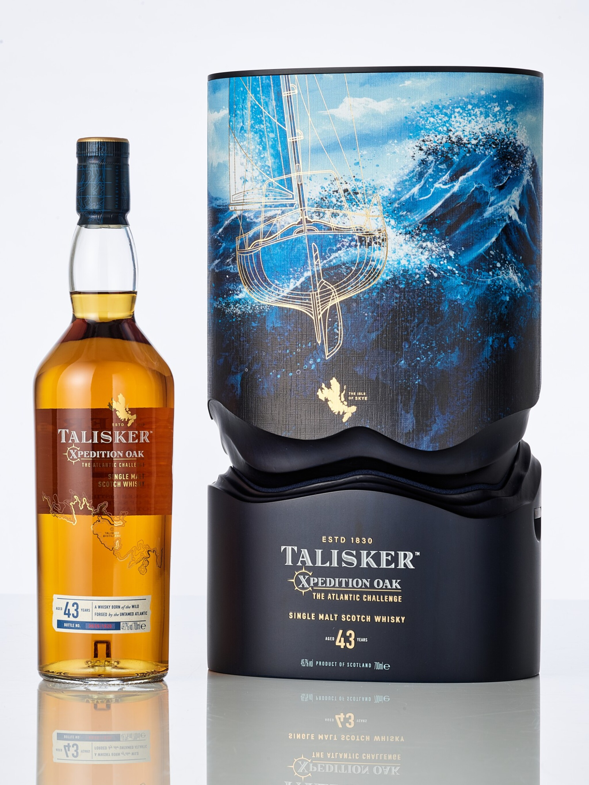 View full screen - View 1 of Lot 2002. Talisker 43 Year Old Xpedition Oak 49.7 abv NV (1 BT70).