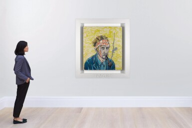 View 4. Thumbnail of Lot 8. Portrait of the Artist Contemplating, Van Gogh - No. 6.