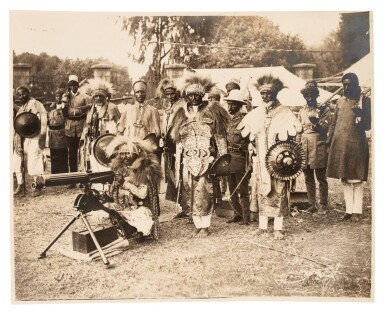 View 1. Thumbnail of Lot 157. Ethiopia | Album of photographs and press cuttings relating to the Coronation of Haile Selassie, November 1930.