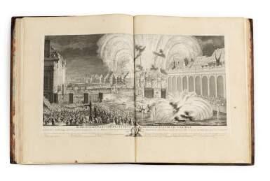 WEISS, JOHANN MARTIN   REPRÉSENTATION DES FÊTES DONNÉES PAR LA VILLE DE STRASBOURG POUR LA CONVALESCENCE DU ROI... [PARIS], LAURENT AUBERT, [1745].