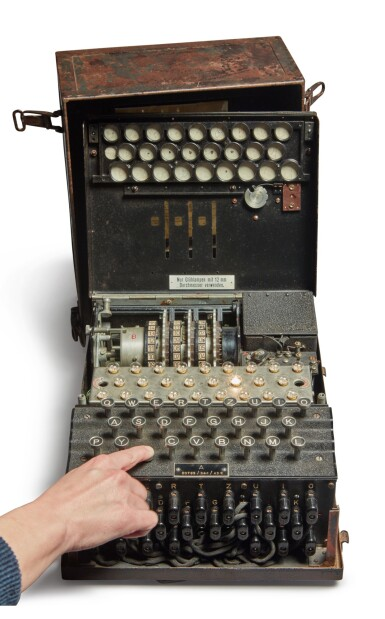 View 2. Thumbnail of Lot 55. A Fully Operational Enigma I in Original Condition.