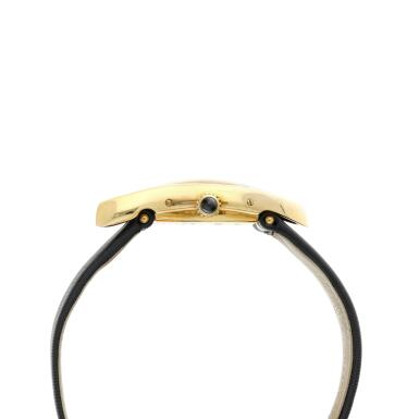 View 5. Thumbnail of Lot 306. Crash  A commissioned piece yellow gold asymmetrical wristwatch, Circa 2007.