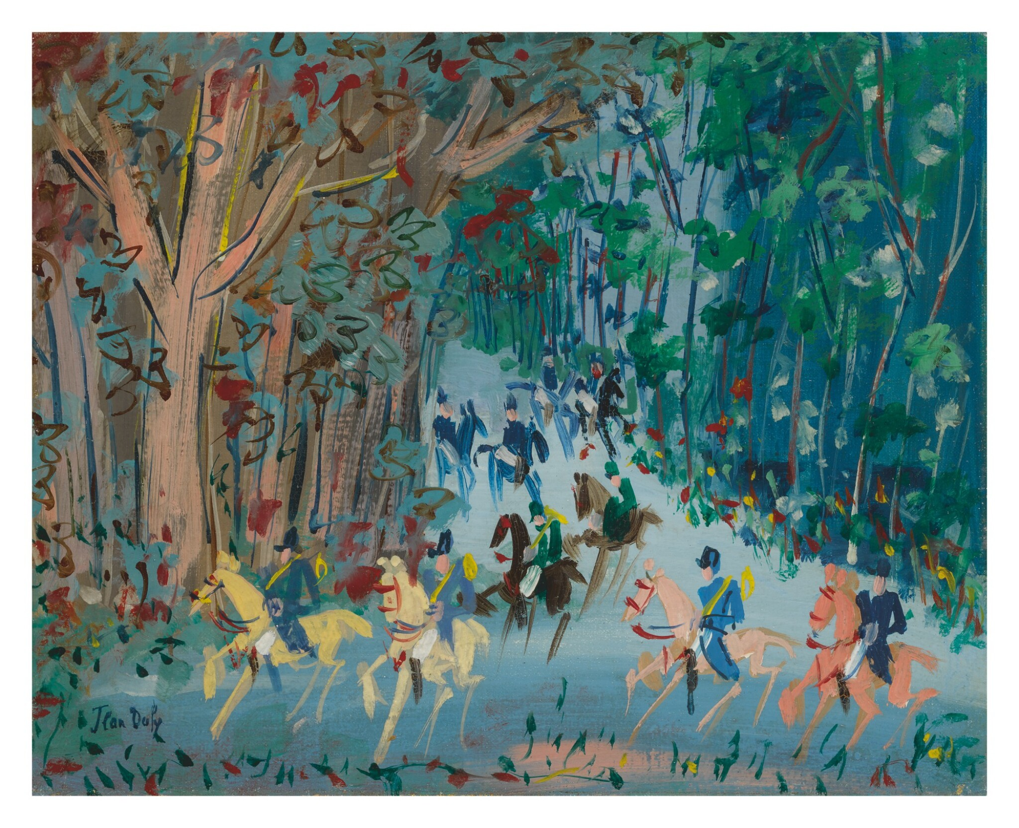 View full screen - View 1 of Lot 12. JEAN DUFY | CHASSE À COURRE.