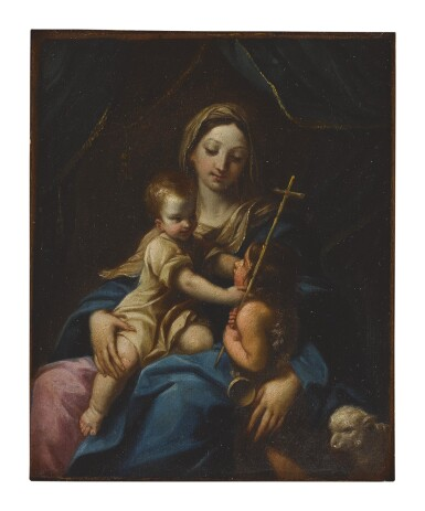 WORKSHOP OF GUIDO RENI | MADONNA AND CHRIST WITH SAINT JOHN THE BAPTIST AS A CHILD