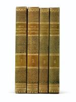 De la démocratie en Amérique. 1835-1840. 4 vol. Rare en reliure époque. Ex-Libris Georges Pompidou.