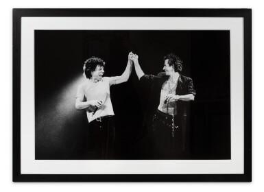 View 2. Thumbnail of Lot 28. Mick and Keith, Paris 1998.