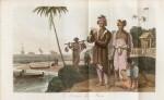 WALCKANAER. Le Monde maritime...Nepveu, 1818. 3 vol. in-16, basane brune ornée de l'époque.