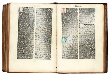 Bible, Latin, Venice, 1480, later red morocco gilt, Clements copy