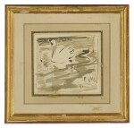 ELSIE MARIAN HENDERSON | FOUR WATERCOLORS, INCLUDING TIGERS, A LION, FROGS AND SWANS