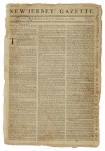 ARTICLES OF CONFEDERATION | Front page printing of the Articles of Confederation in the New-Jersey Gazette, Vol. 1, No. 22. Trenton: Printed by Isaac Collins, Wednesday, April 29, 1778