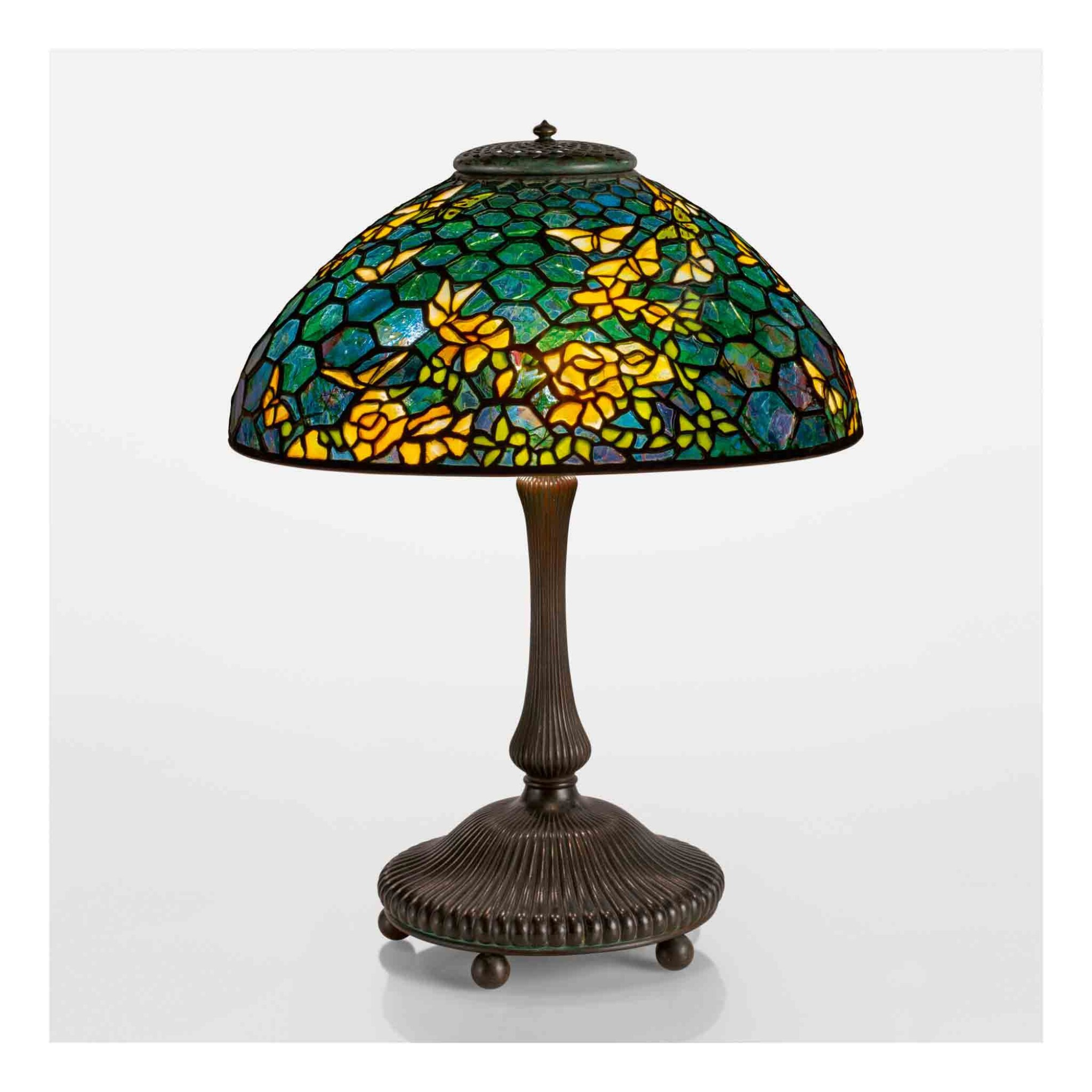 """View full screen - View 1 of Lot 512. A Rare """"Butterfly"""" Table Lamp."""