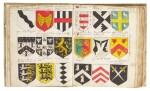 Heraldic Manuscript, with c.3700 coloured coats of arms, 17th century