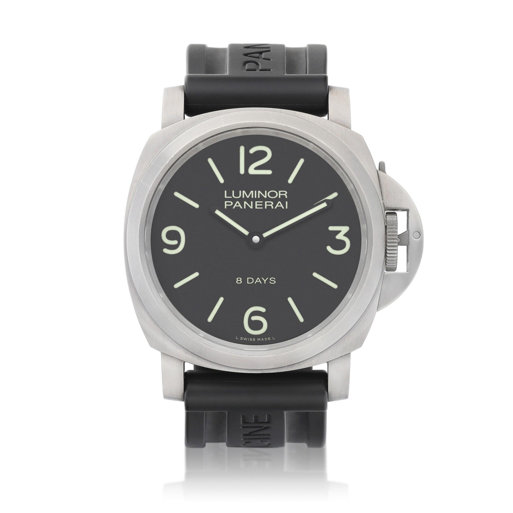 View full screen - View 1 of Lot 8159. Luminor, Reference PAM562   A titanium wristwatch, Circa 2017   沛納海   Luminor 型號PAM562   鈦金屬腕錶,約2017年製.