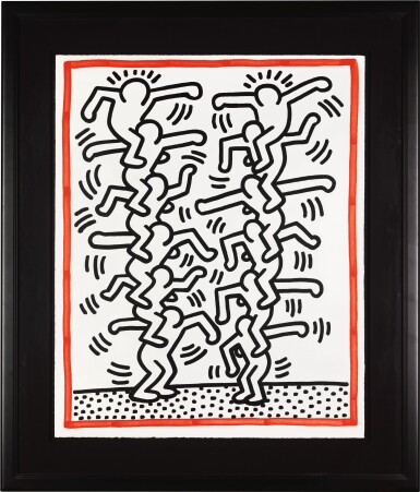 KEITH HARING | UNTITLED (L. P. 41)