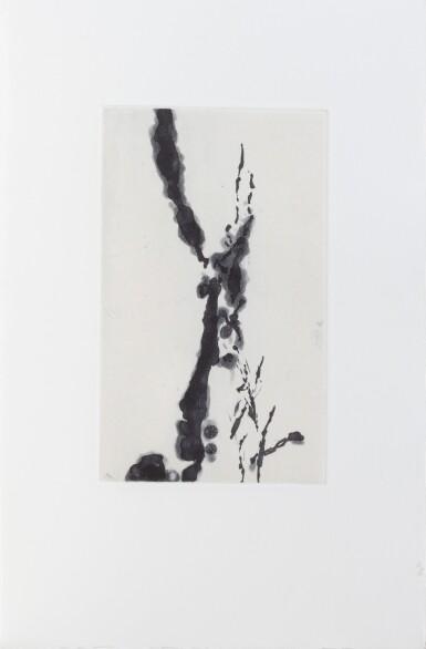 View 2. Thumbnail of Lot 182. Rompre le cri. Écarts, 1994. 2 gravures de Wou-Ki. Un des 75 exemplaires sur vélin (n° 37)..