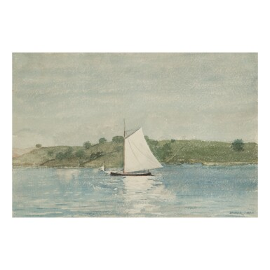 WINSLOW HOMER | SAILING CALM WATER