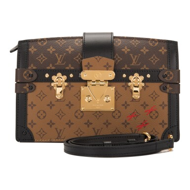 View 1. Thumbnail of Lot 115. Louis Vuitton Trunk Clutch of Reverse Monogram Canvas with Polished Brass Hardware .