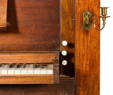 View 7. Thumbnail of Lot 167. A George III mahogany chamber organ by Hugh Russell, 1780.