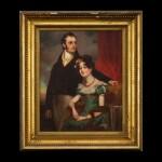 George Chinnery (1774-1852), circa 1820, Portrait of a Lady and Gentleman | 錢納利(1774-1852年)約1820年   紳士貴婦像 布本油畫 木框